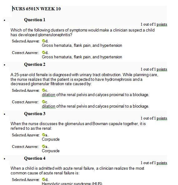 nurs 6501n week 10 quiz