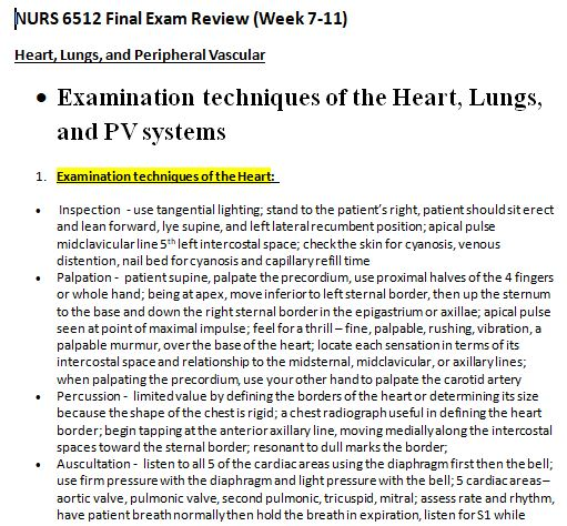 nurs 6512n final exam review