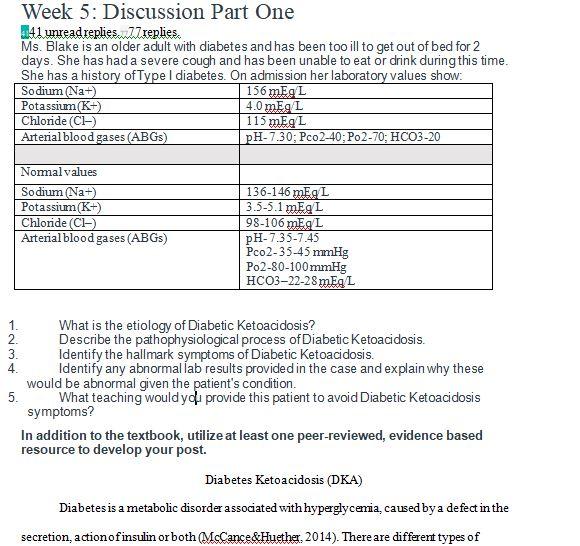 nr 507 week 5 case study