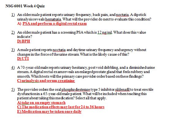 nsg 6001 week 4 quiz
